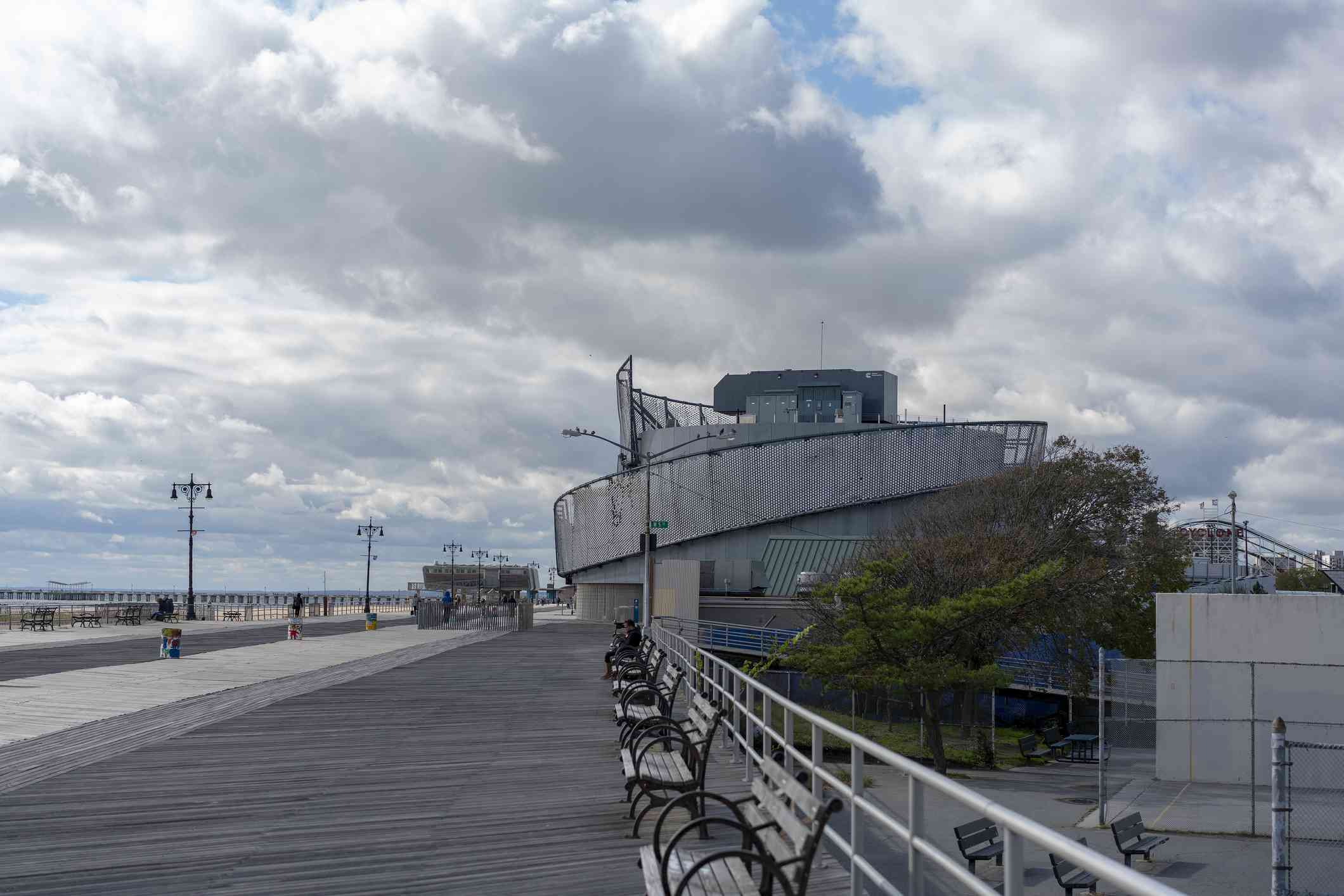 New York Aquarium along the Coney Island Boardwalk