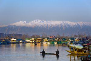 Dal Lake at morning in Srinagar, Kashmir, India.