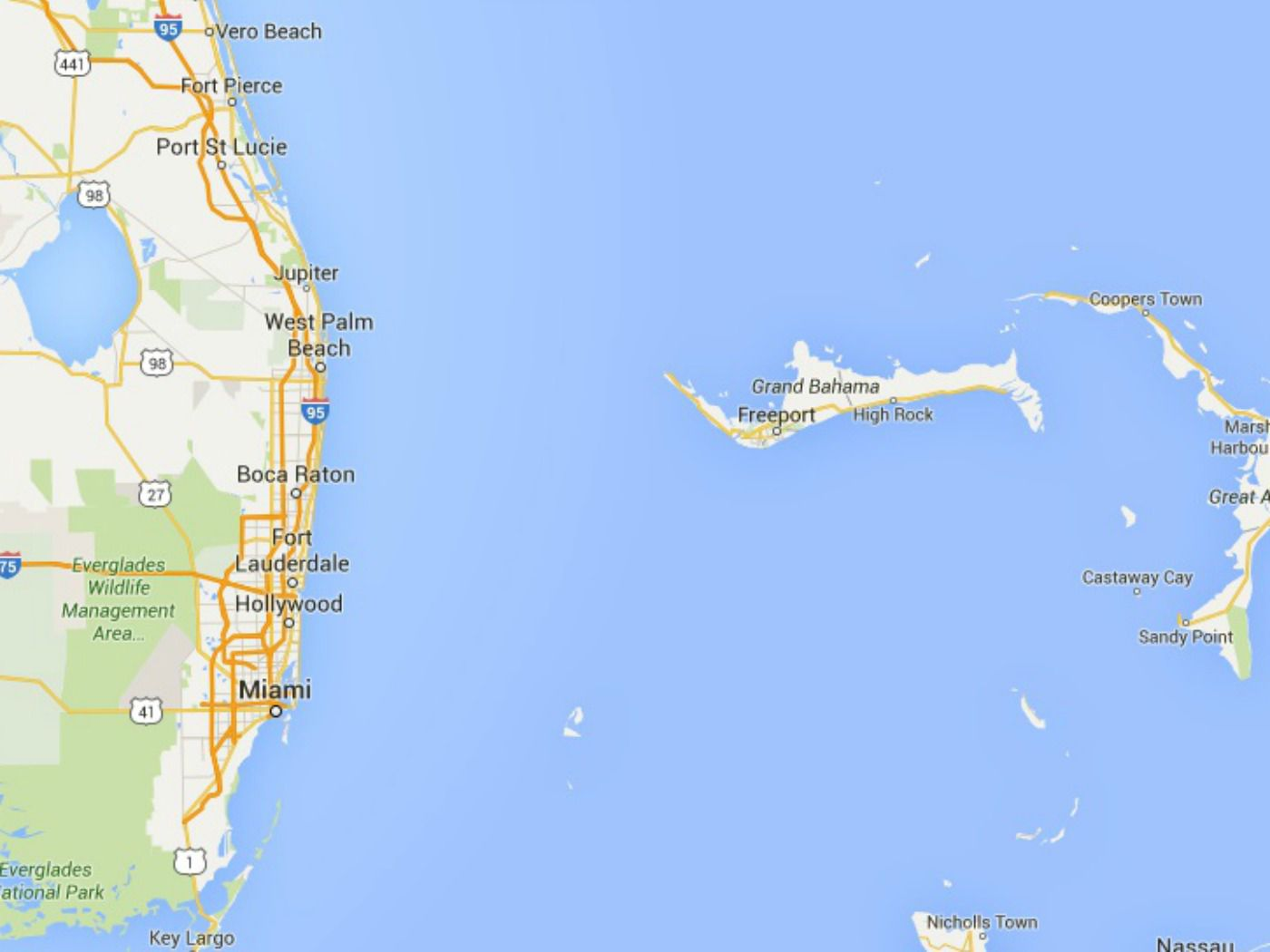 Map Of Southeast Florida Beaches.Maps Of Florida Orlando Tampa Miami Keys And More