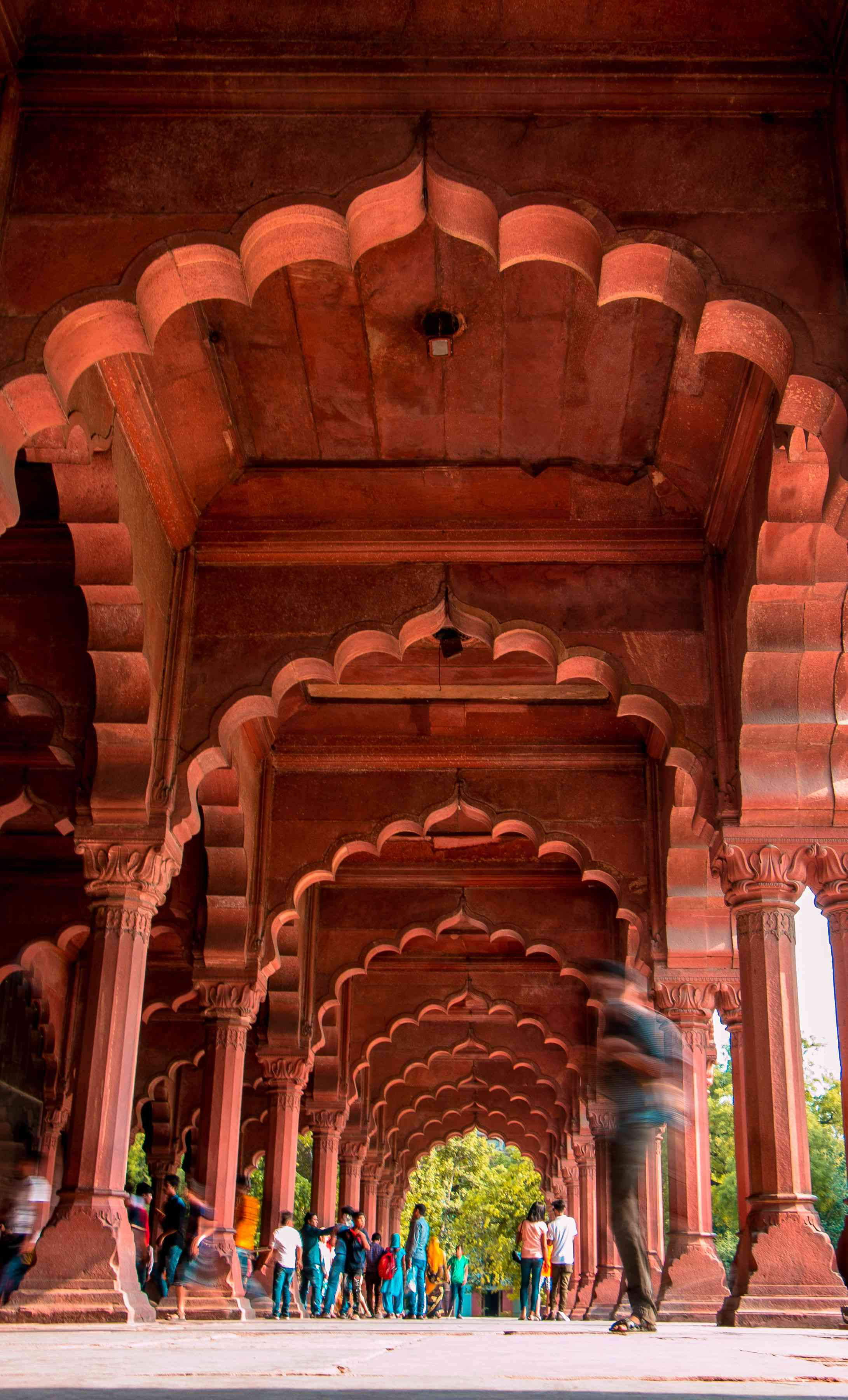 The arches of the Red Fort