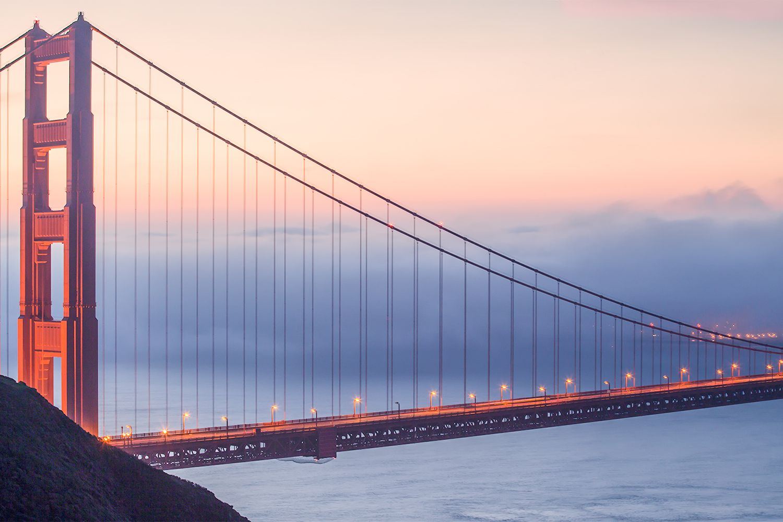 Golden Gate Bridge View from the Marin Headlands
