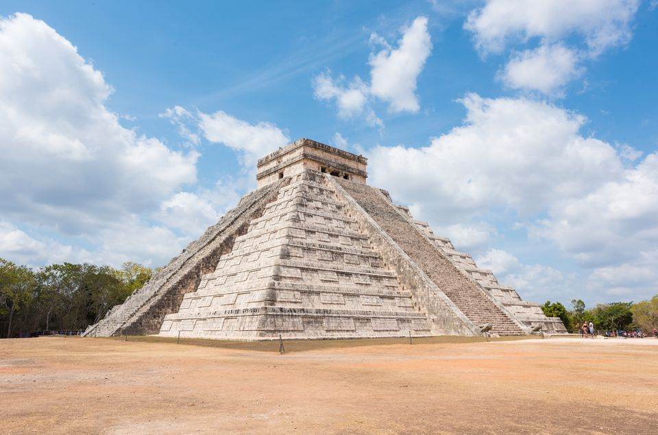 The step pyramid at Chichen Itza