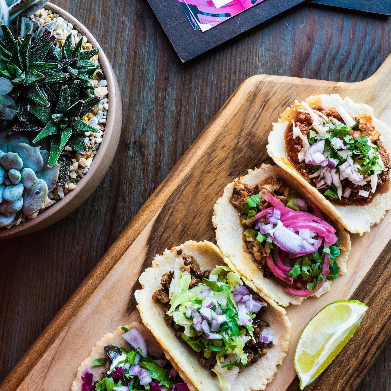 Tacos veganos de Charly