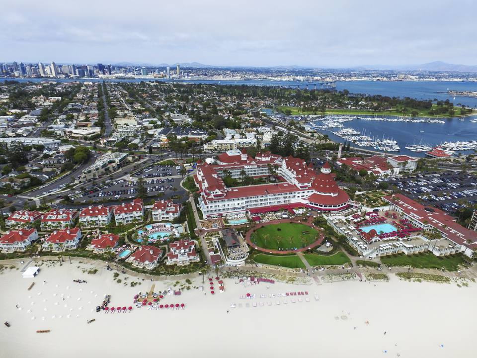 The iconic Hotel de Coronado in San Diego.