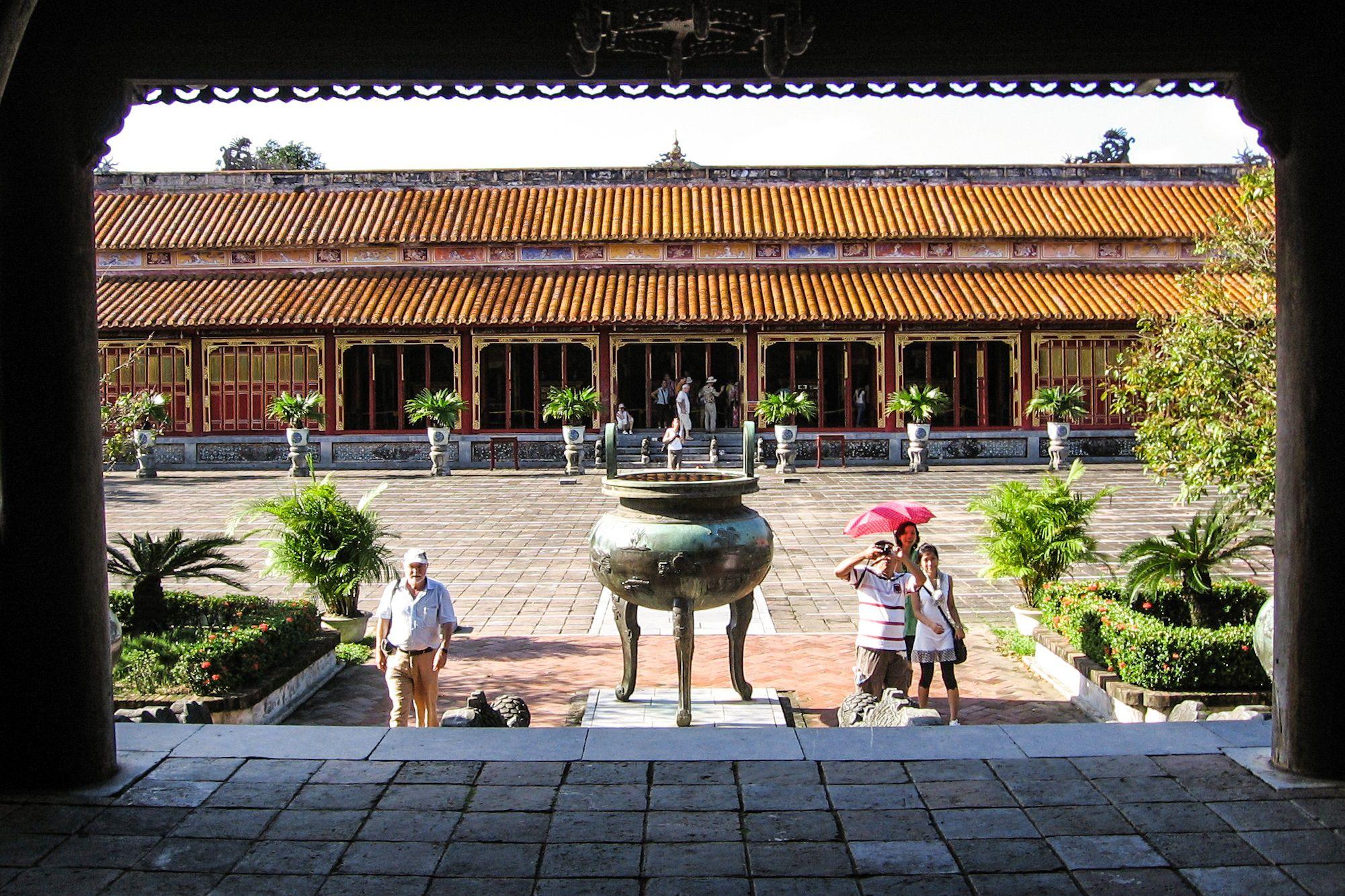 Exterior of The To Trieu temple, Hue Citadel, Vietnam.