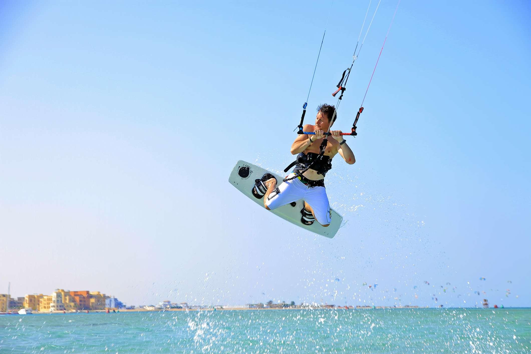 Kite-surfer at El Gouna, Egypt
