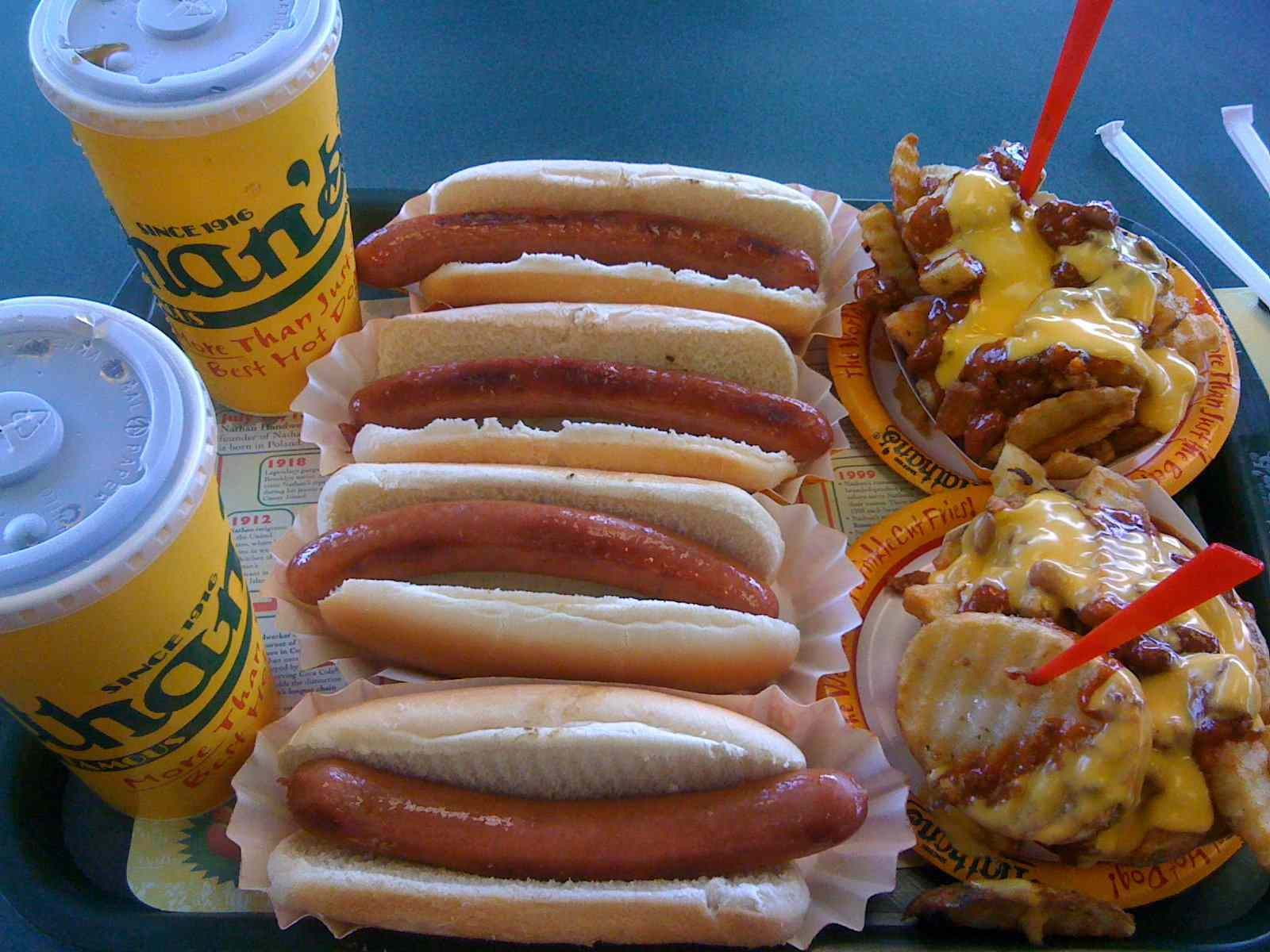 Nathan's Hot Dogs Plus Chili Cheese Fries