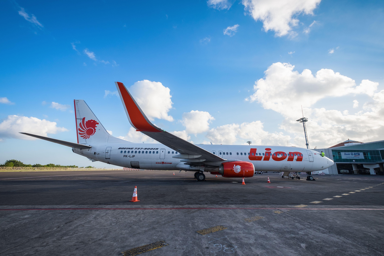 Thai Lion Air plane on the ground