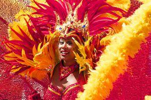 a dancer at Carnival in Trinidad