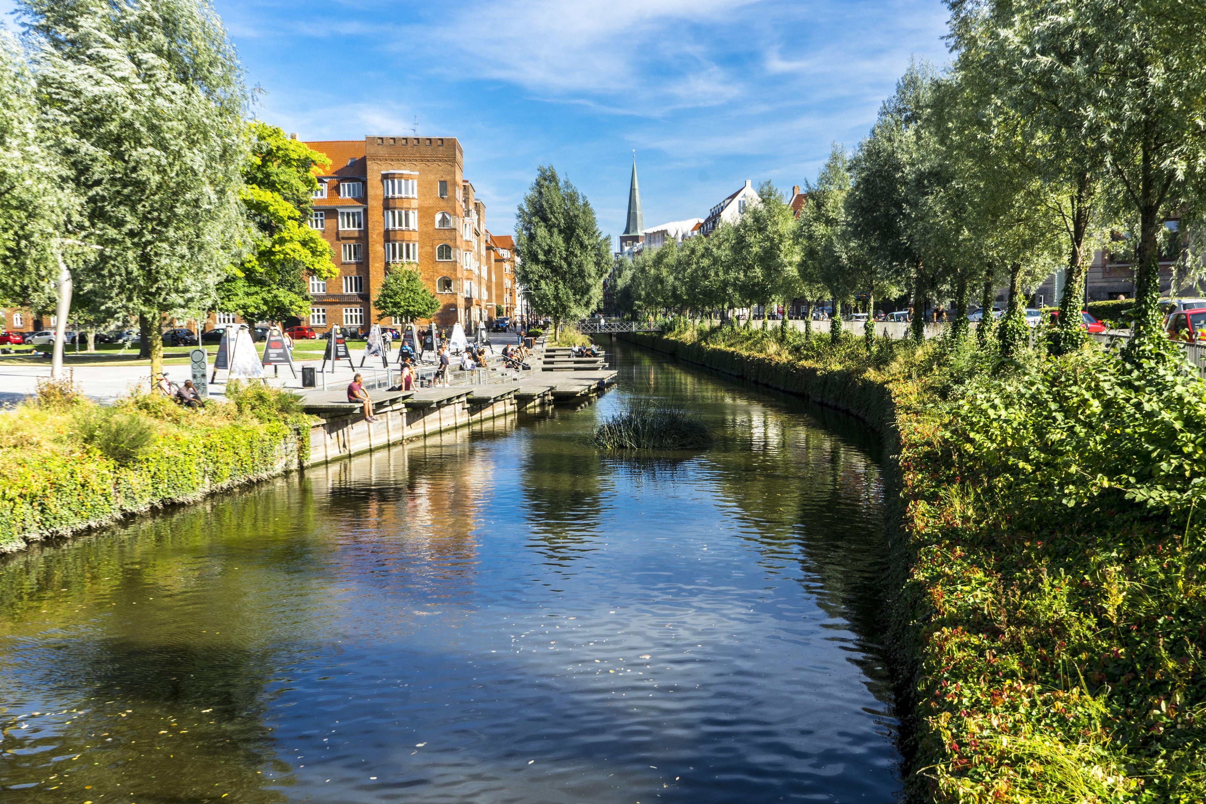 Canal in Aarhus, Denmark