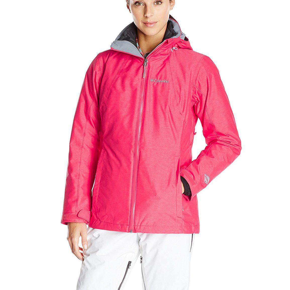woman in ski jacket