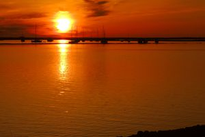 Sunset over the Ria Formosa