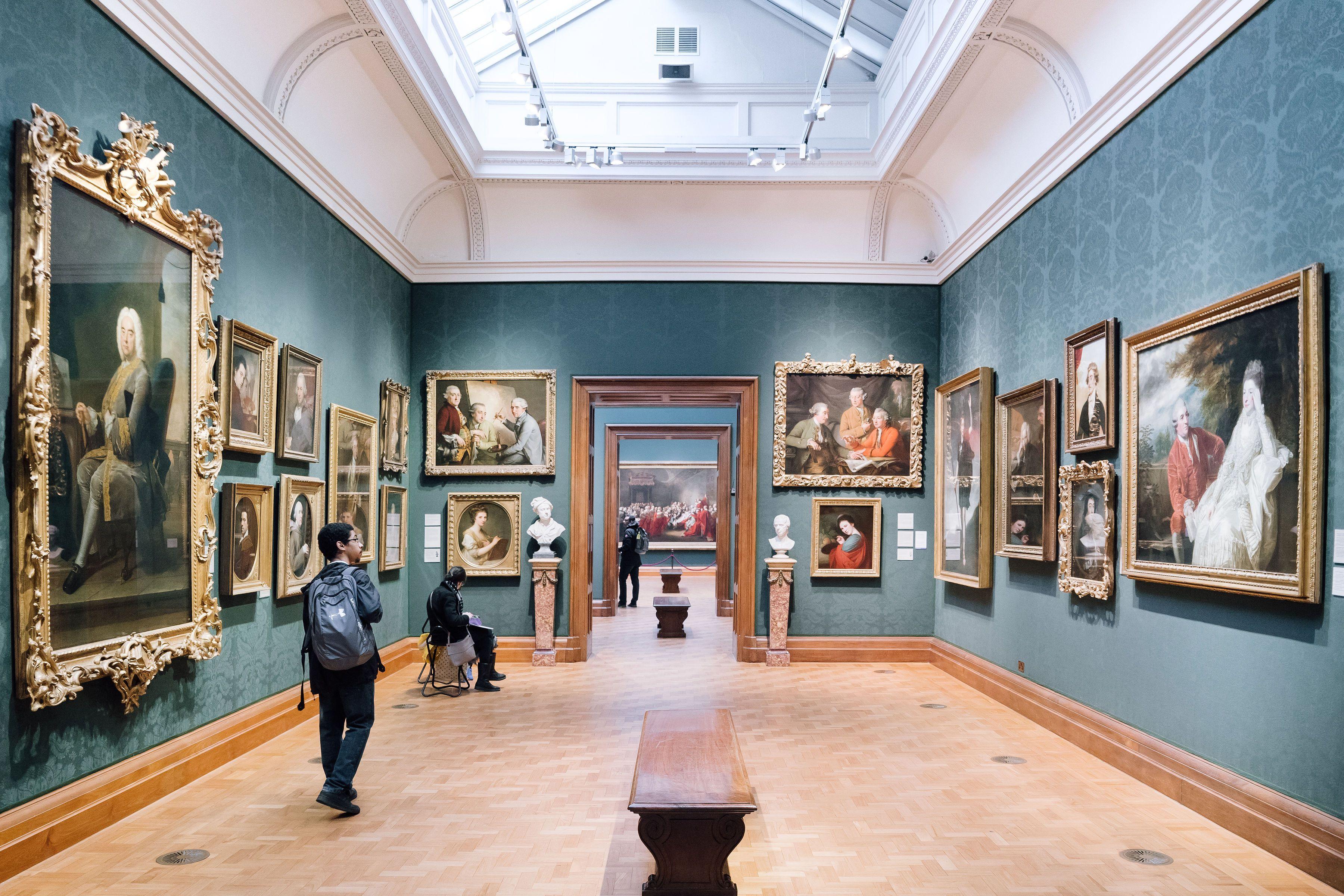 Interior of the art museum