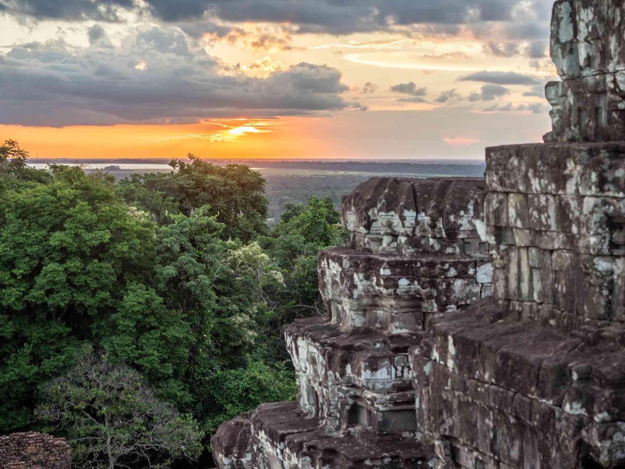 Sunset at Phnom Bakheng Angkor Siem Reap Temple