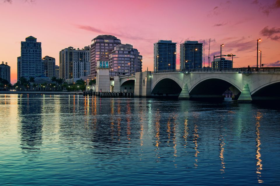 West Palm Beach at sunset
