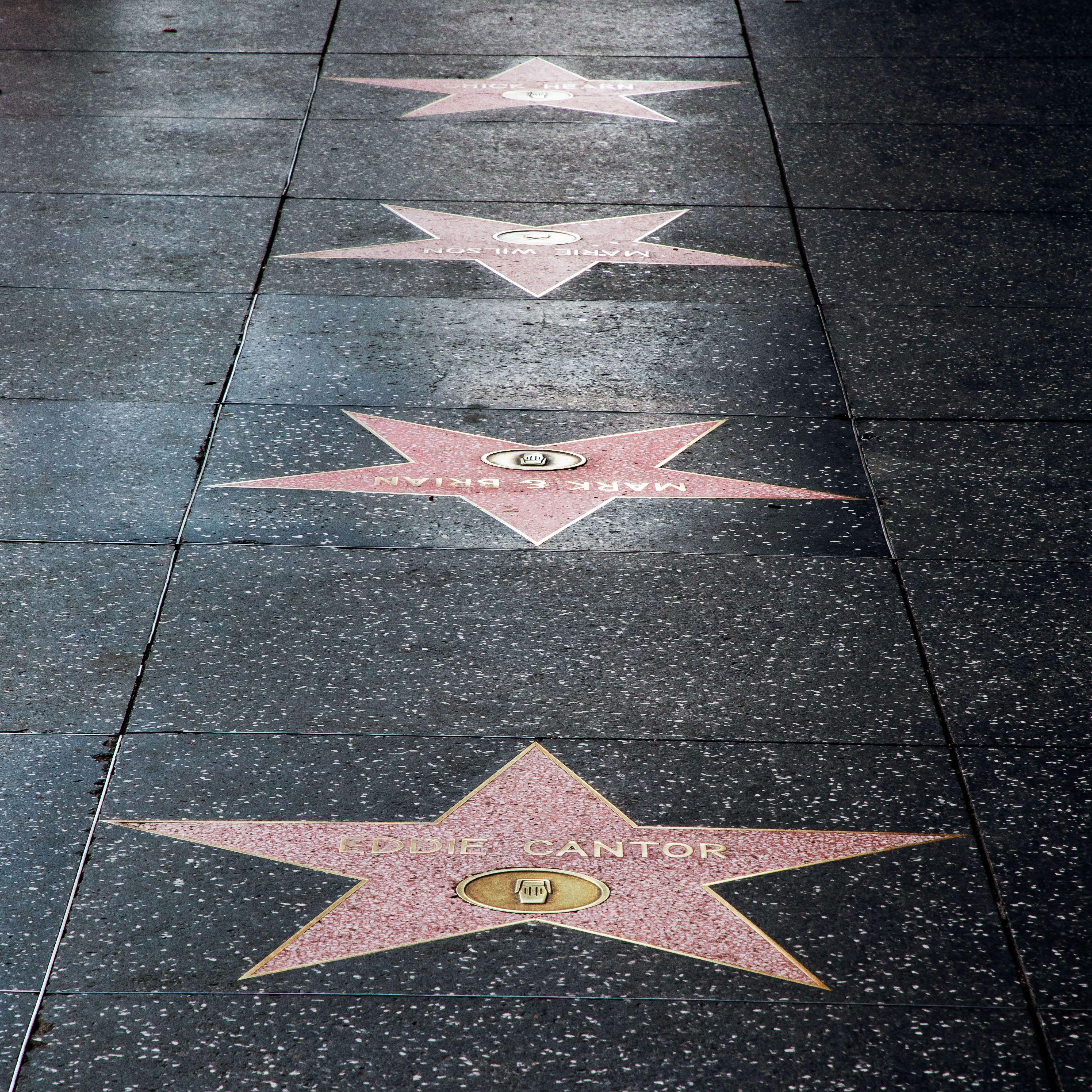 Stars on teh walk of fame