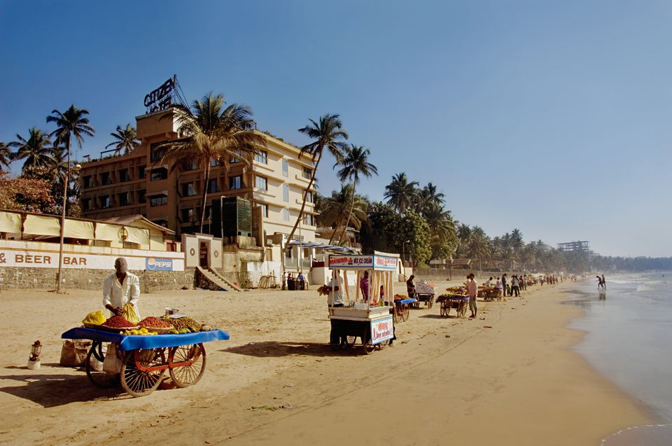 Juhu beach and Citizen hotel.