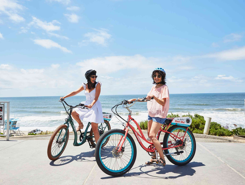 Biking by the Carlsbad beach