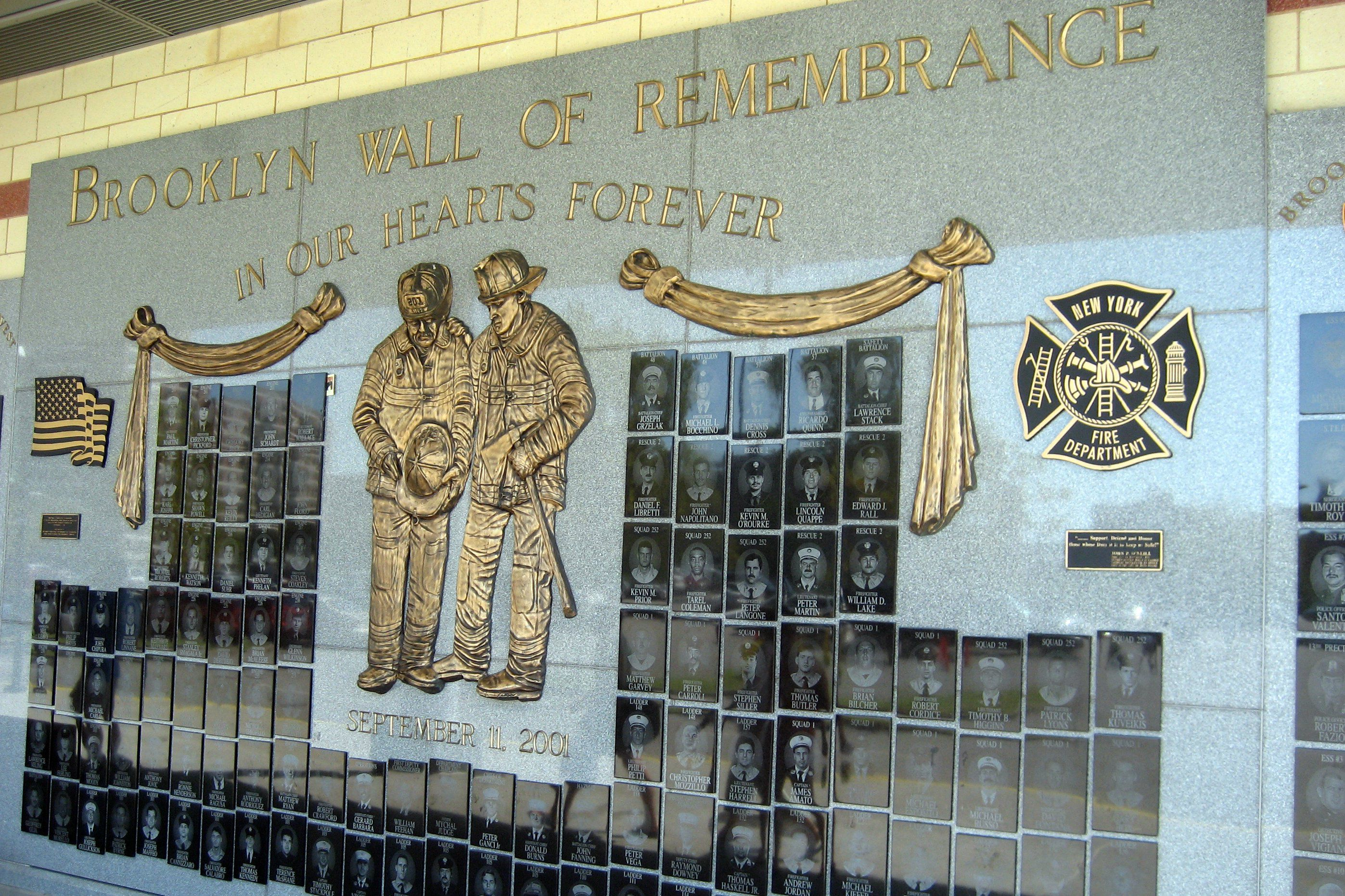 Brooklyn wall of remembrance