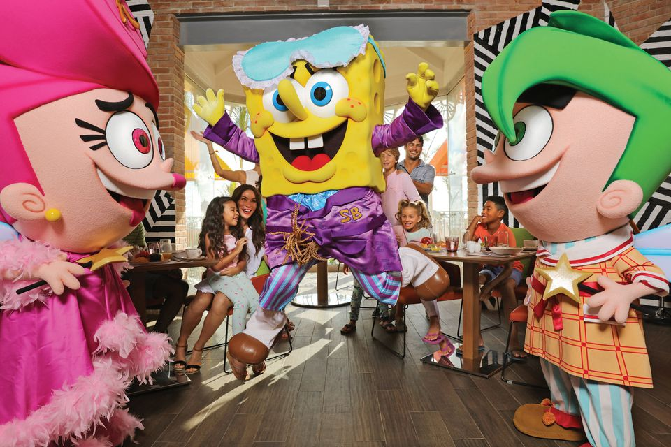 Character meal at Nickelodeon Resort Punta Cana