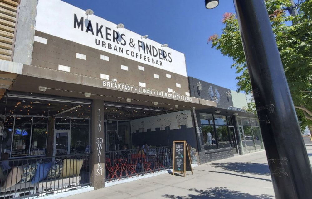 Exterior of Makers & Finders cafe in Las Vegas Arts District