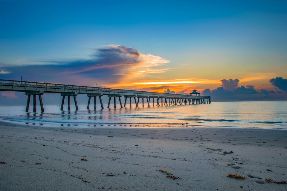 Deerfield Pier at Sunrise in Deerfield Florida