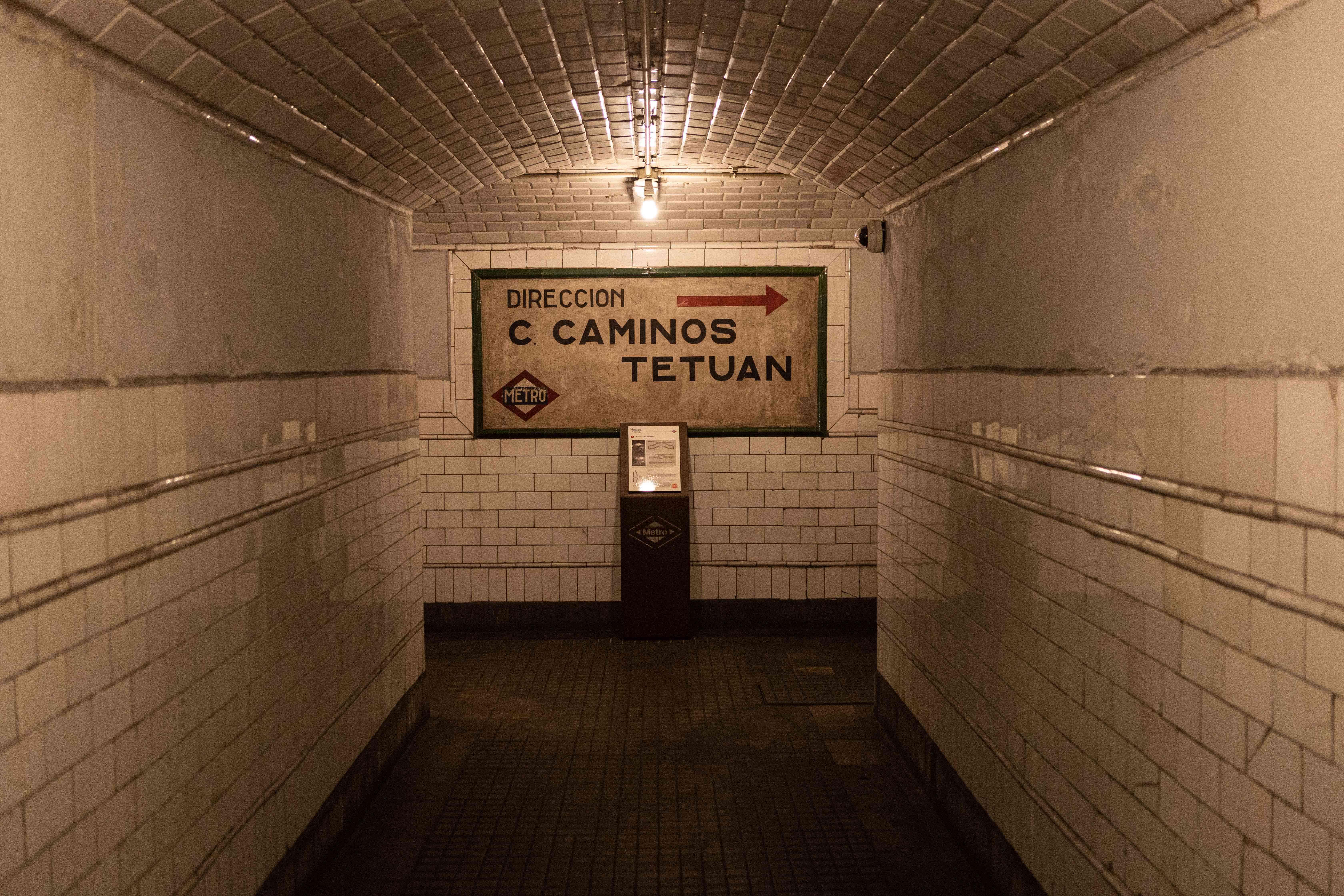 Metro Chamberi in Madrid