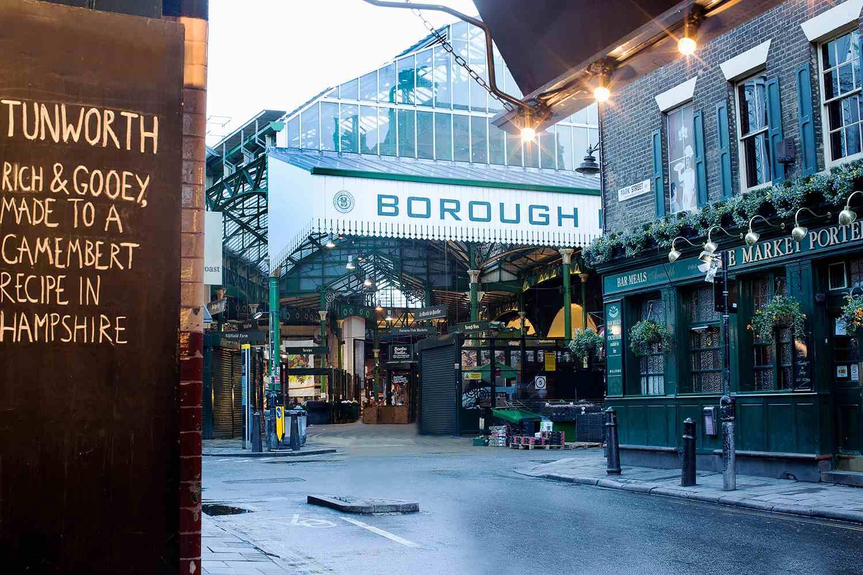 Entrance to Borough market, London, England.