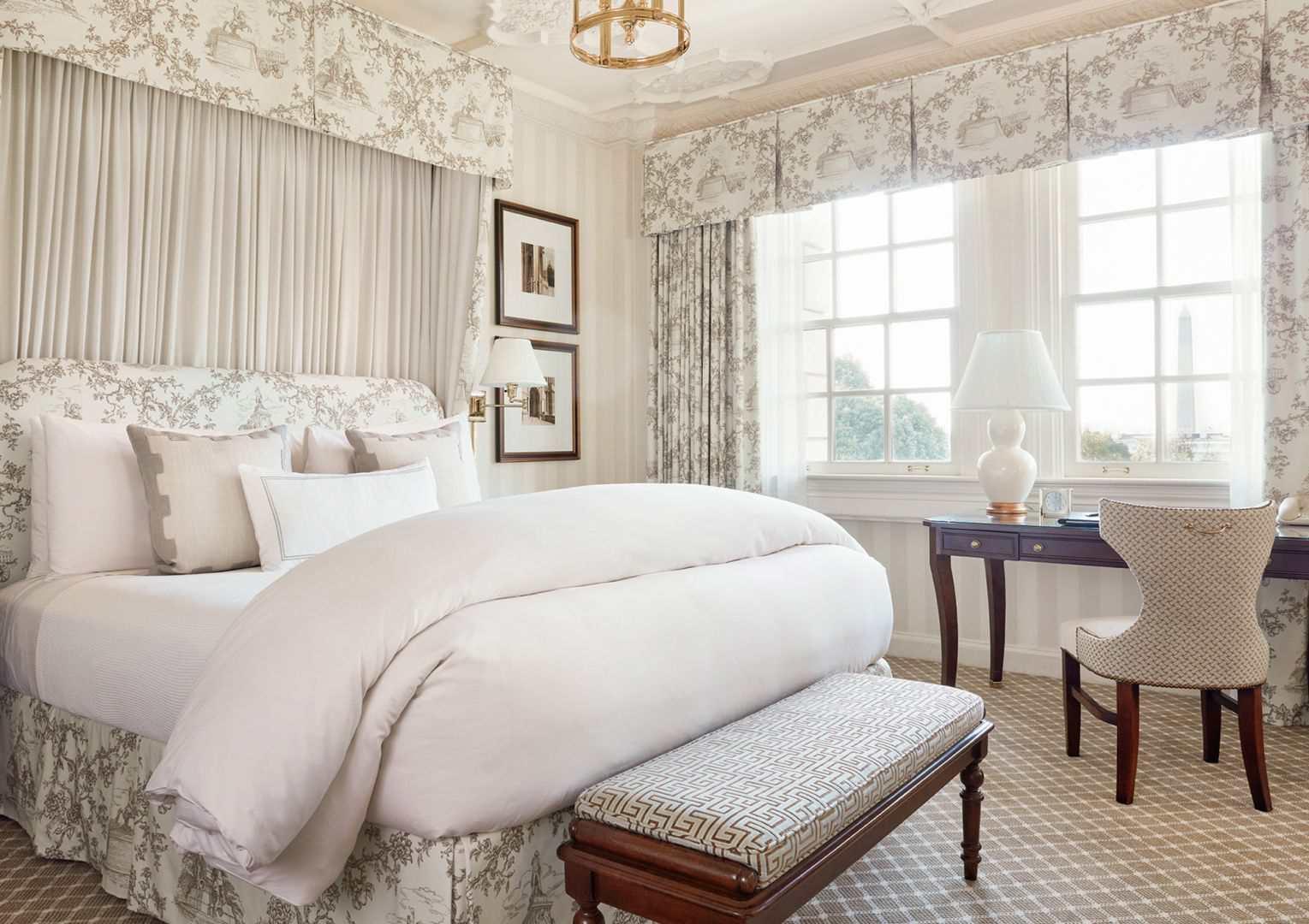 A guest room at the Hay-Adams