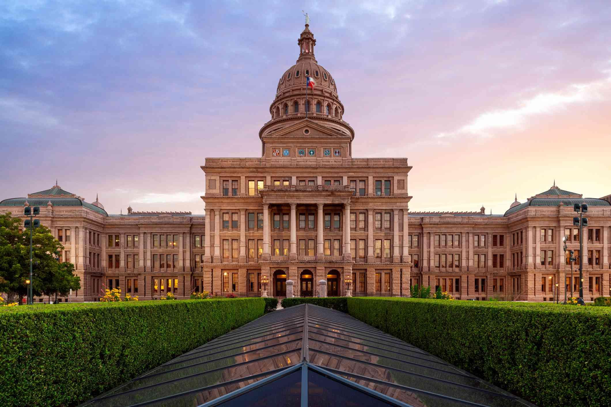 Texas Capitol, Dramatic Sunset, Austin, Texas, America