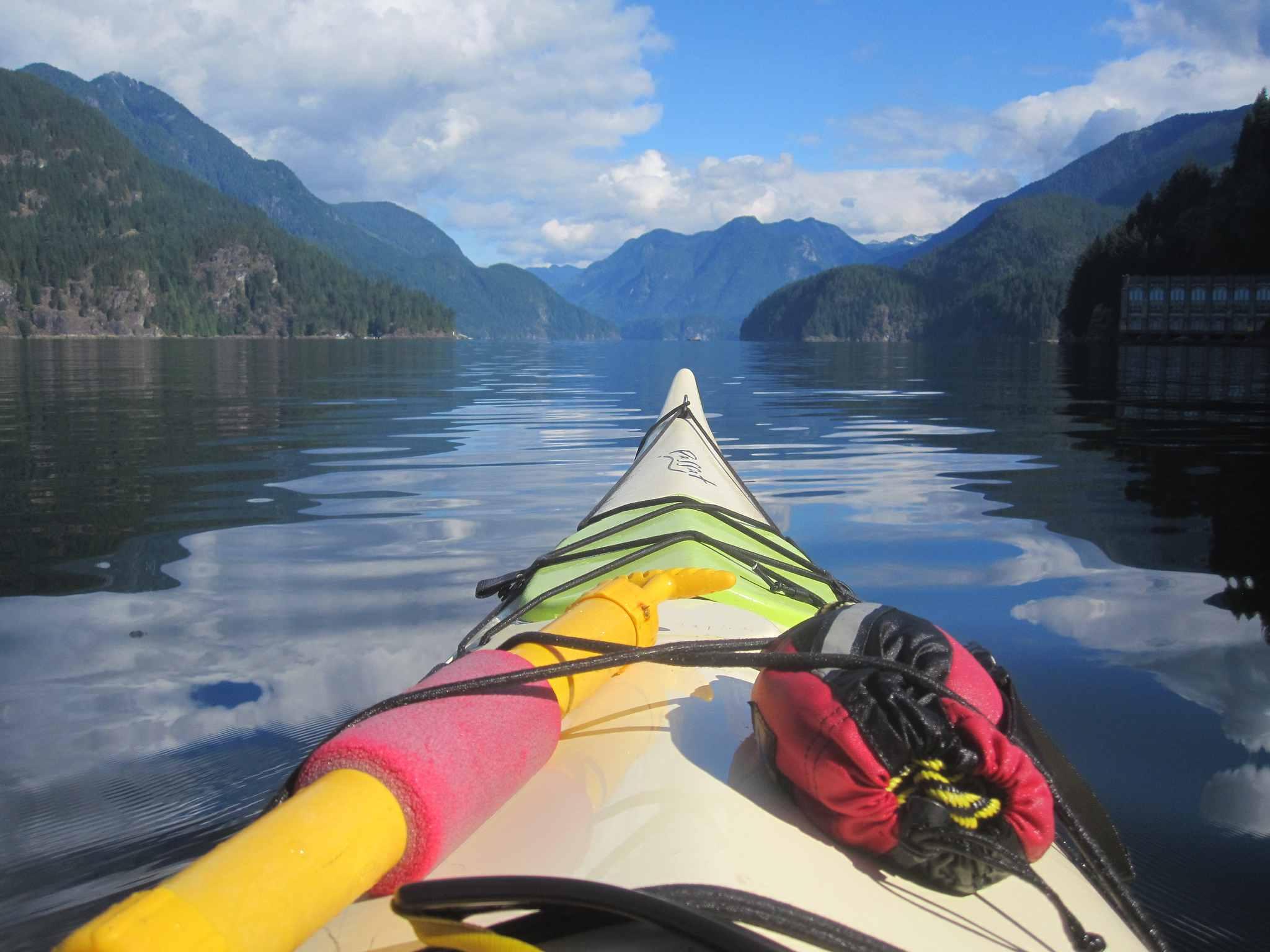 Kayaking at Indian Arm