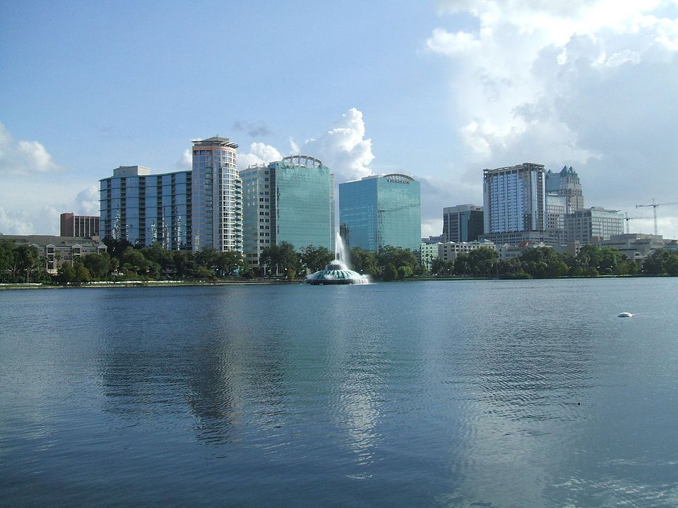 The Orlando Skyline and Lake Eola
