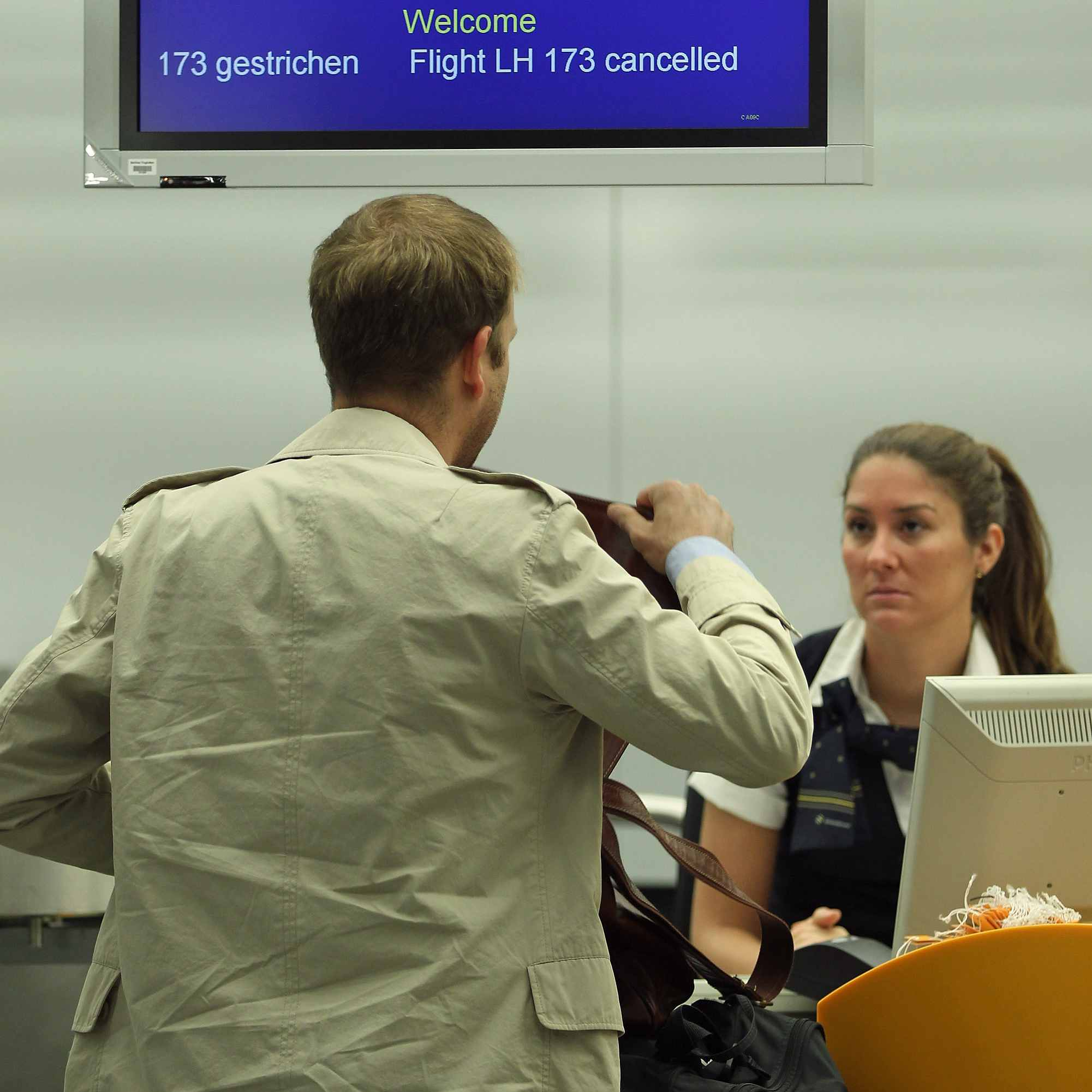 Most of the time, paying the airline change fee is the best policy after a missed flight.
