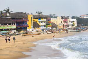 Beach, Mamallapuram near Pondicherry, Tamil Nadu