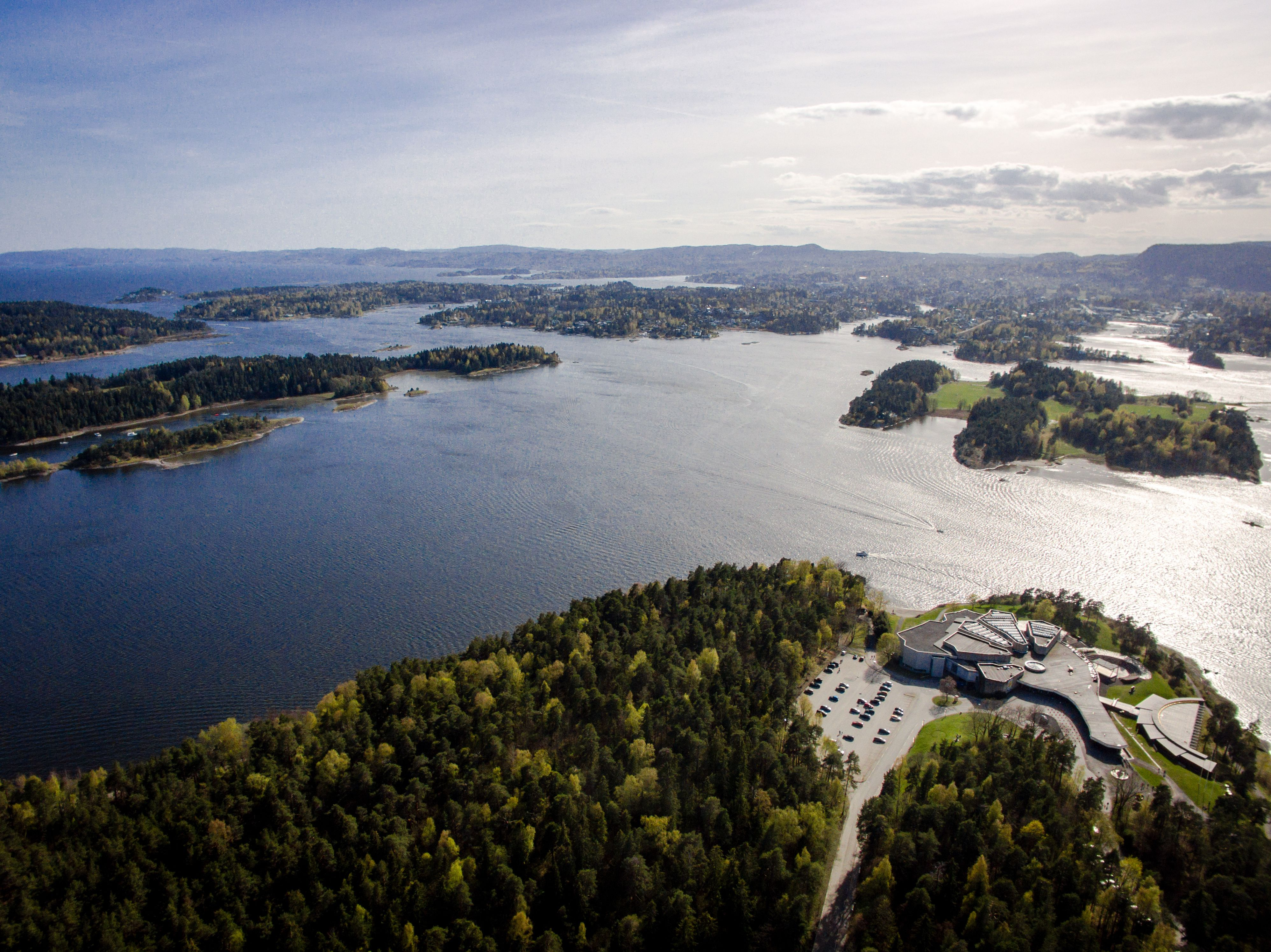 Sandvika from the air