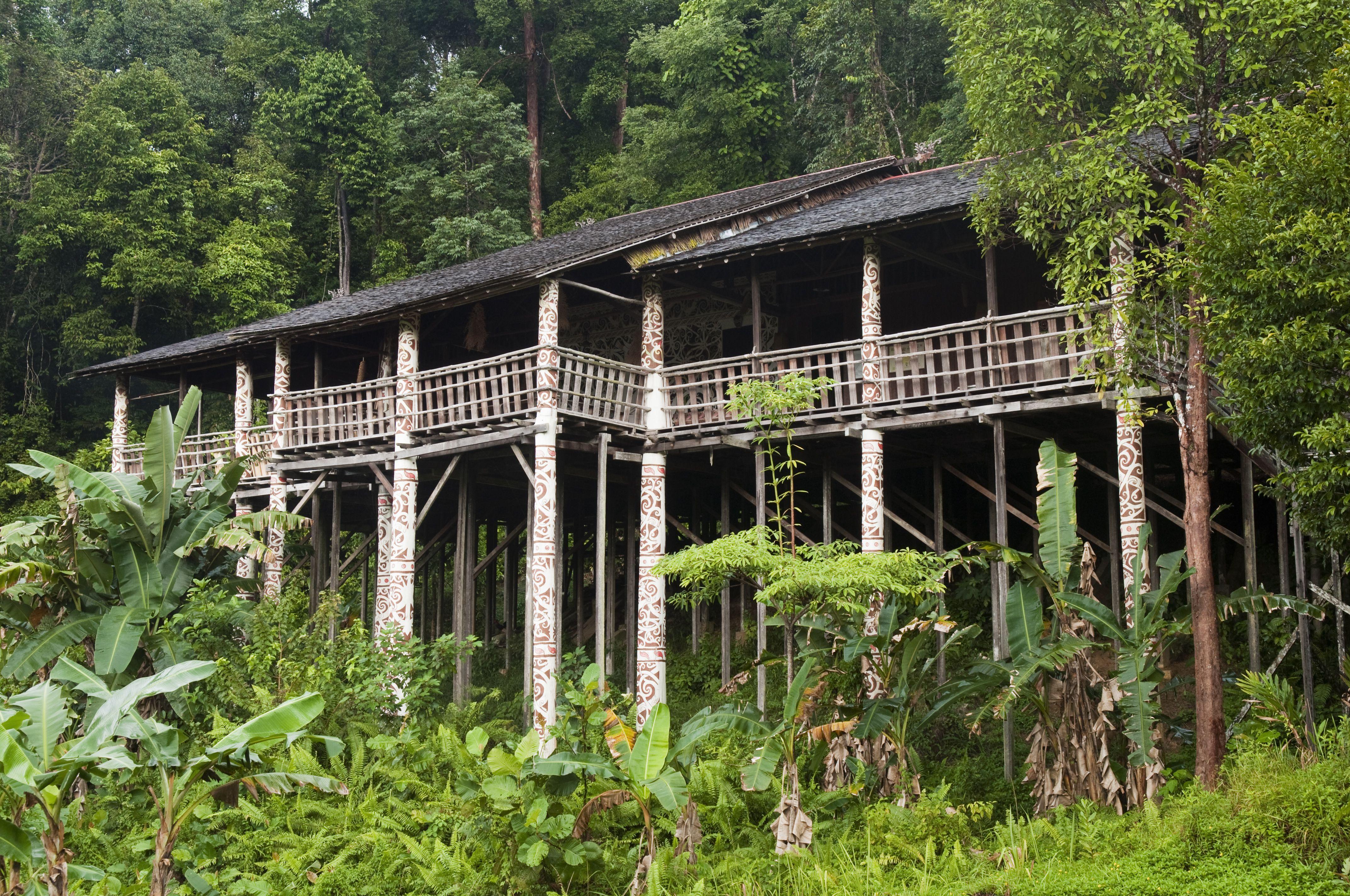 Longhouse in Sarawak, Borneo