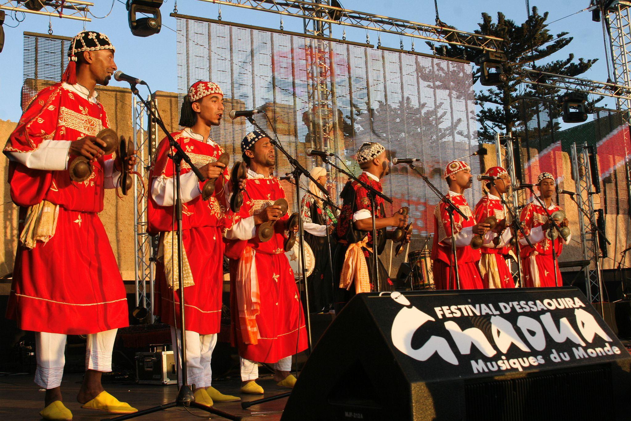 Singers at Essaouira Gnaoua and World Music Festival, Morocco