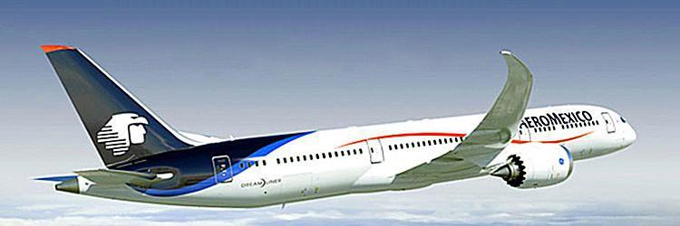 Aeromexico plane in sky