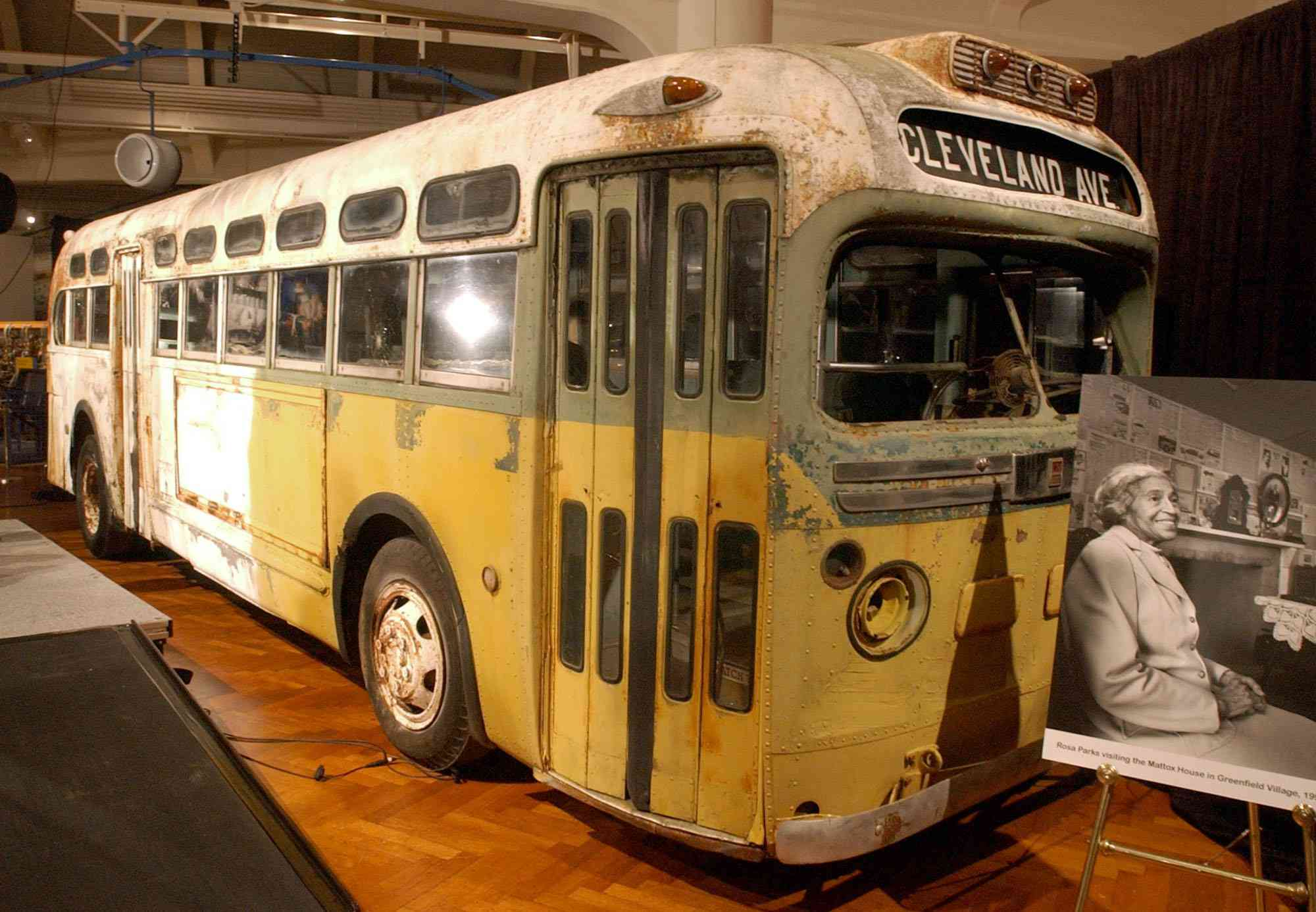 Rosa Parks bus at the Henry Ford
