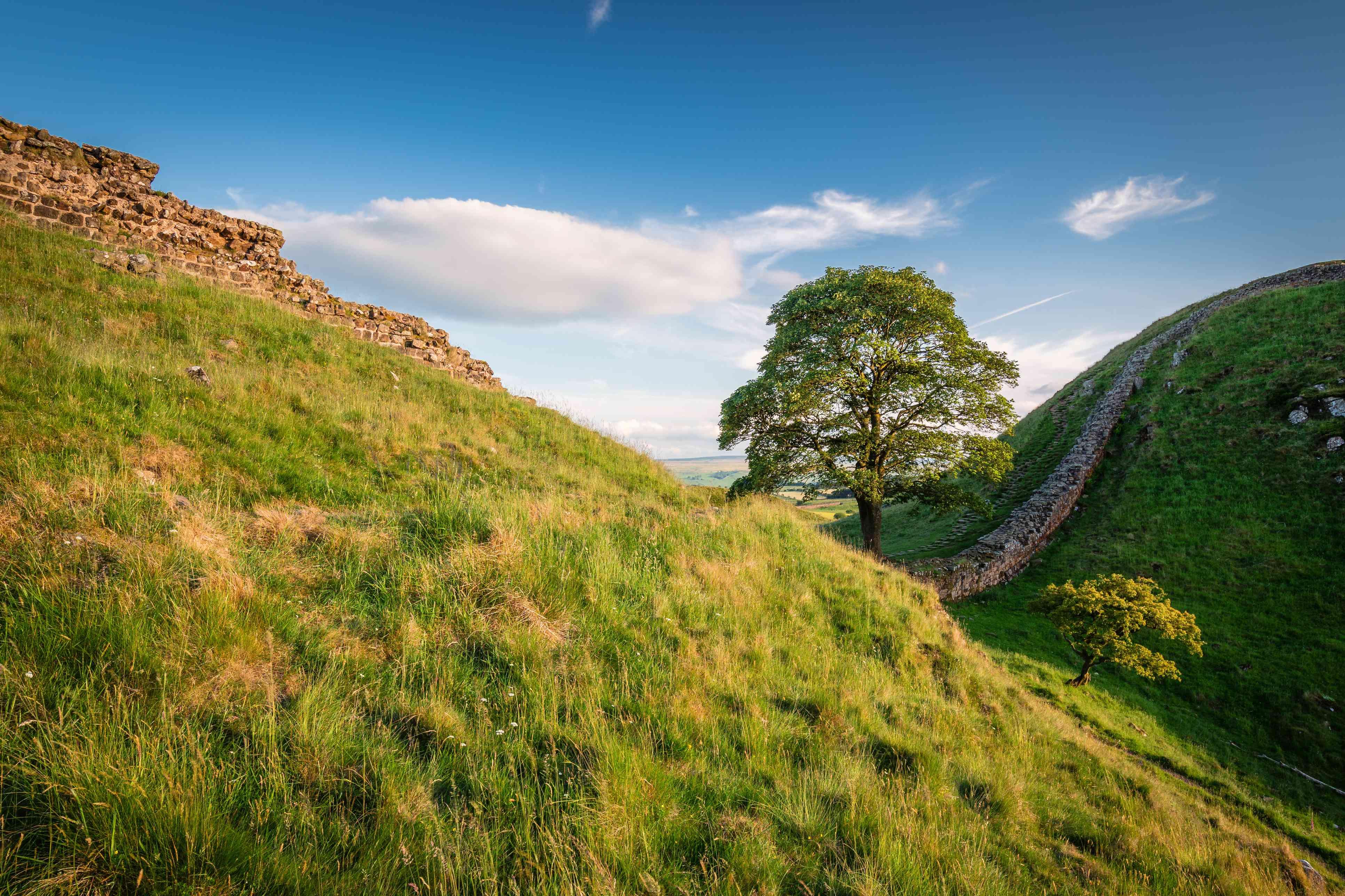 Hadrian's Wall at Sycamore Gap