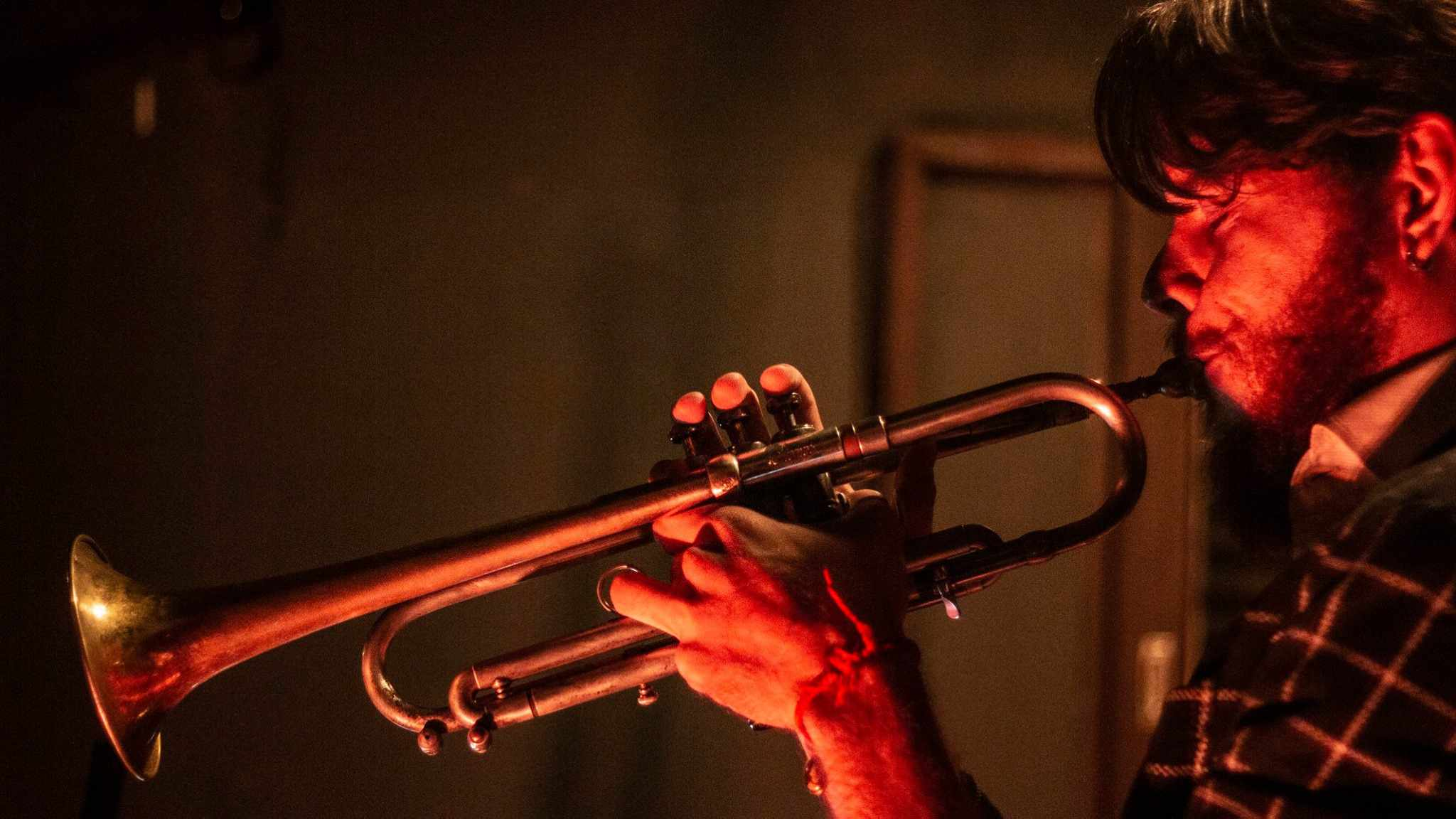 Trumpet player at a Dracena jazz show