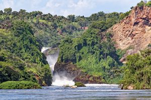 Murchison Falls in Uganda Africa