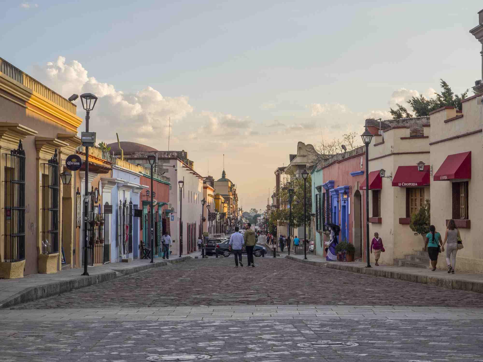 Street scene in Oaxaca, Mexico
