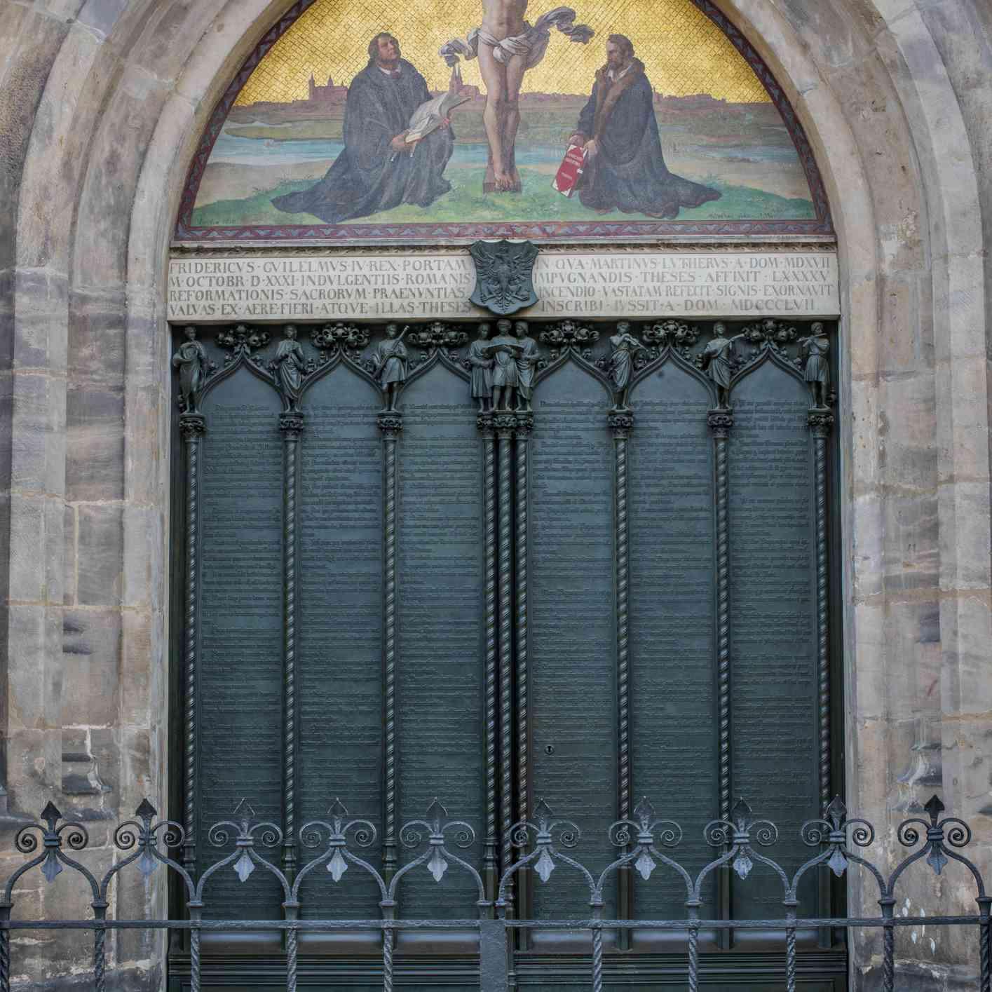 Castle Church door in Wittenberg