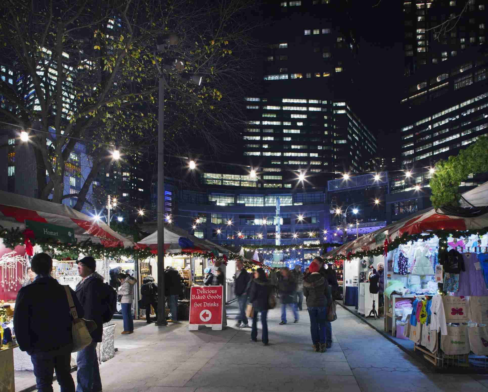 The Holiday Market at Colombus Circle.