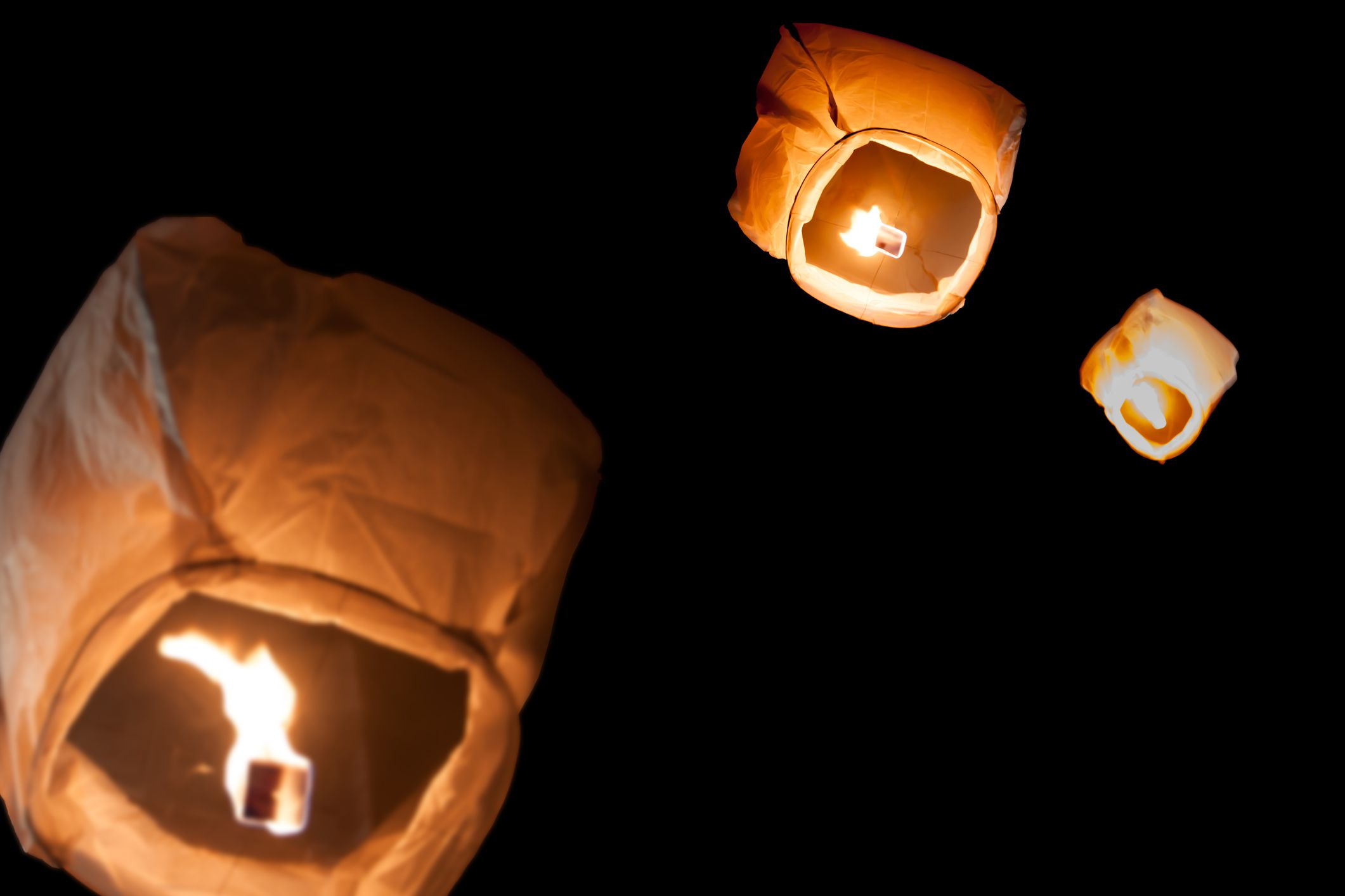 Paper lanterns over Italy