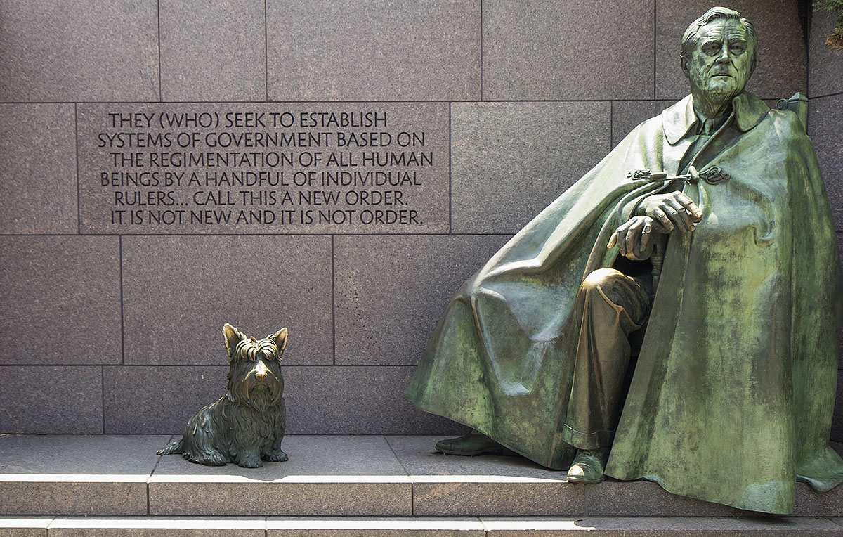 Roosevelt statue, Franklin Delano Roosevelt Memorial, Washington D.C.