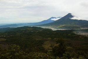 View of a volcano in Guatemala