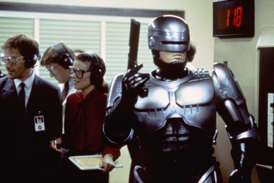 A still from the set of RoboCop