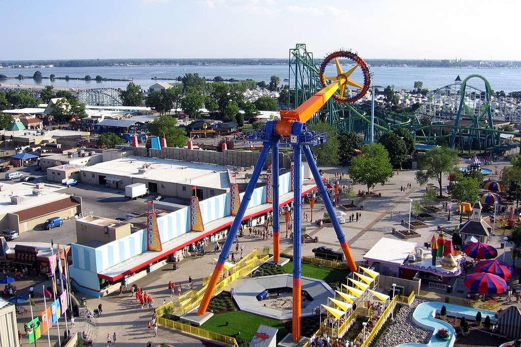 Vista aérea de Cedar Point